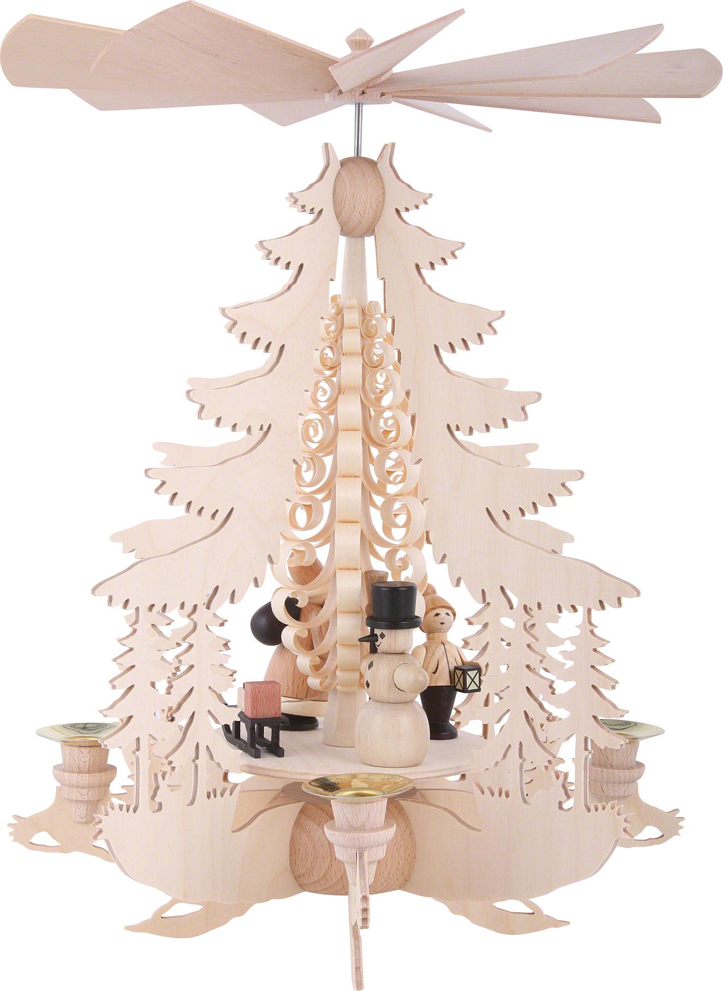 Pyramid christmas ornament - 1 Tier Pyramid Christmas Figures 35cm 14inch