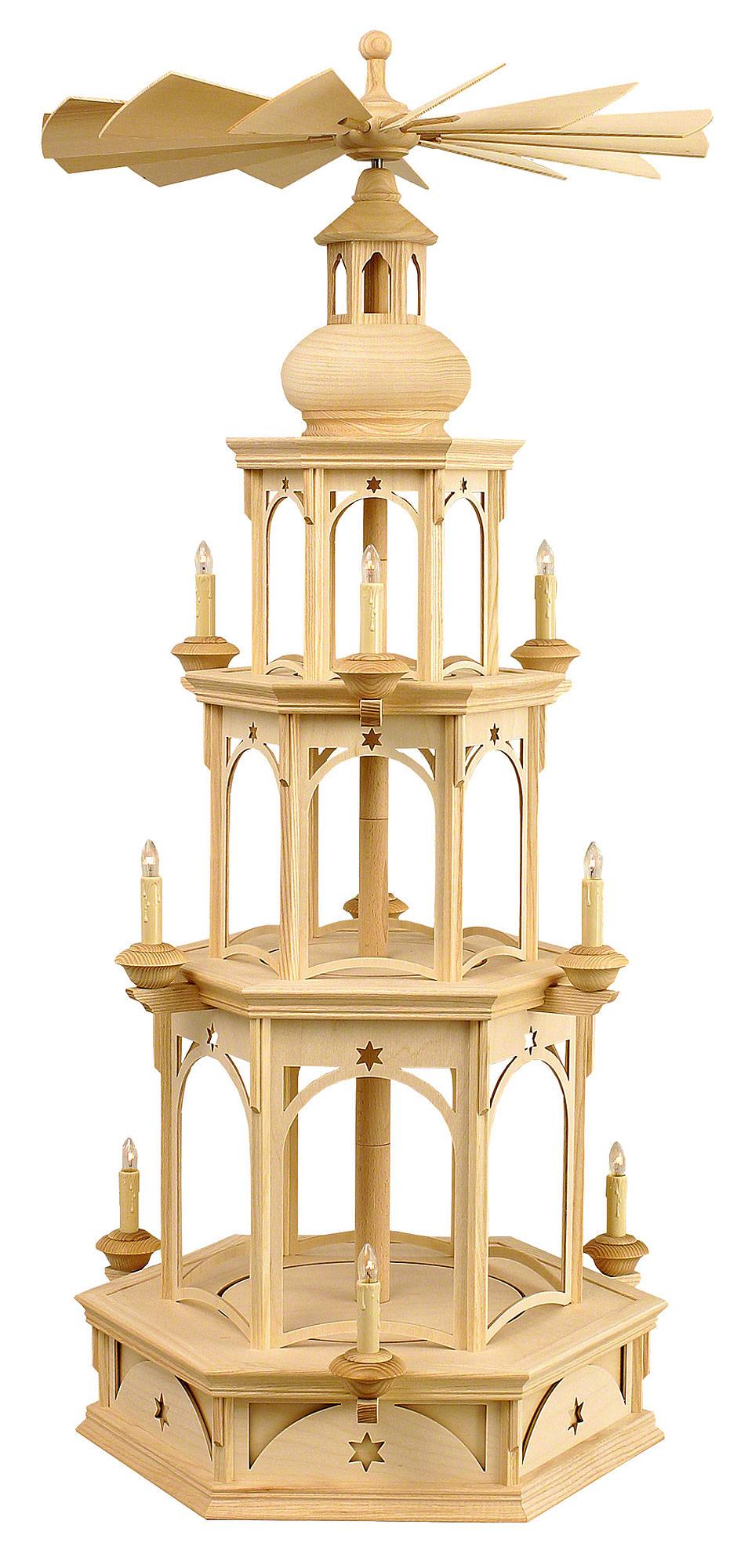 3 st ckige pyramide unbest ckt motiv stern f r. Black Bedroom Furniture Sets. Home Design Ideas