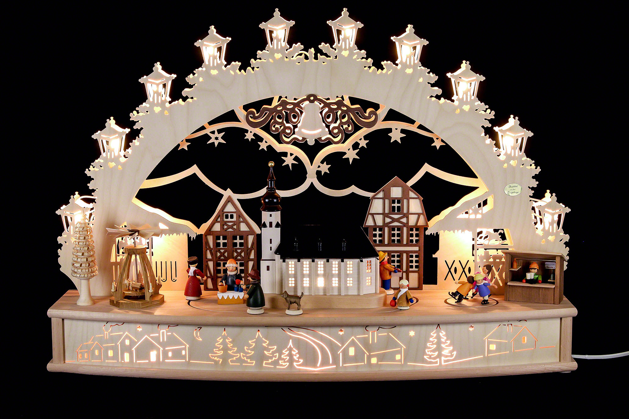 3d candle arch 39 christmas fair 39 68x46x17cm 27x18x7in ch. Black Bedroom Furniture Sets. Home Design Ideas