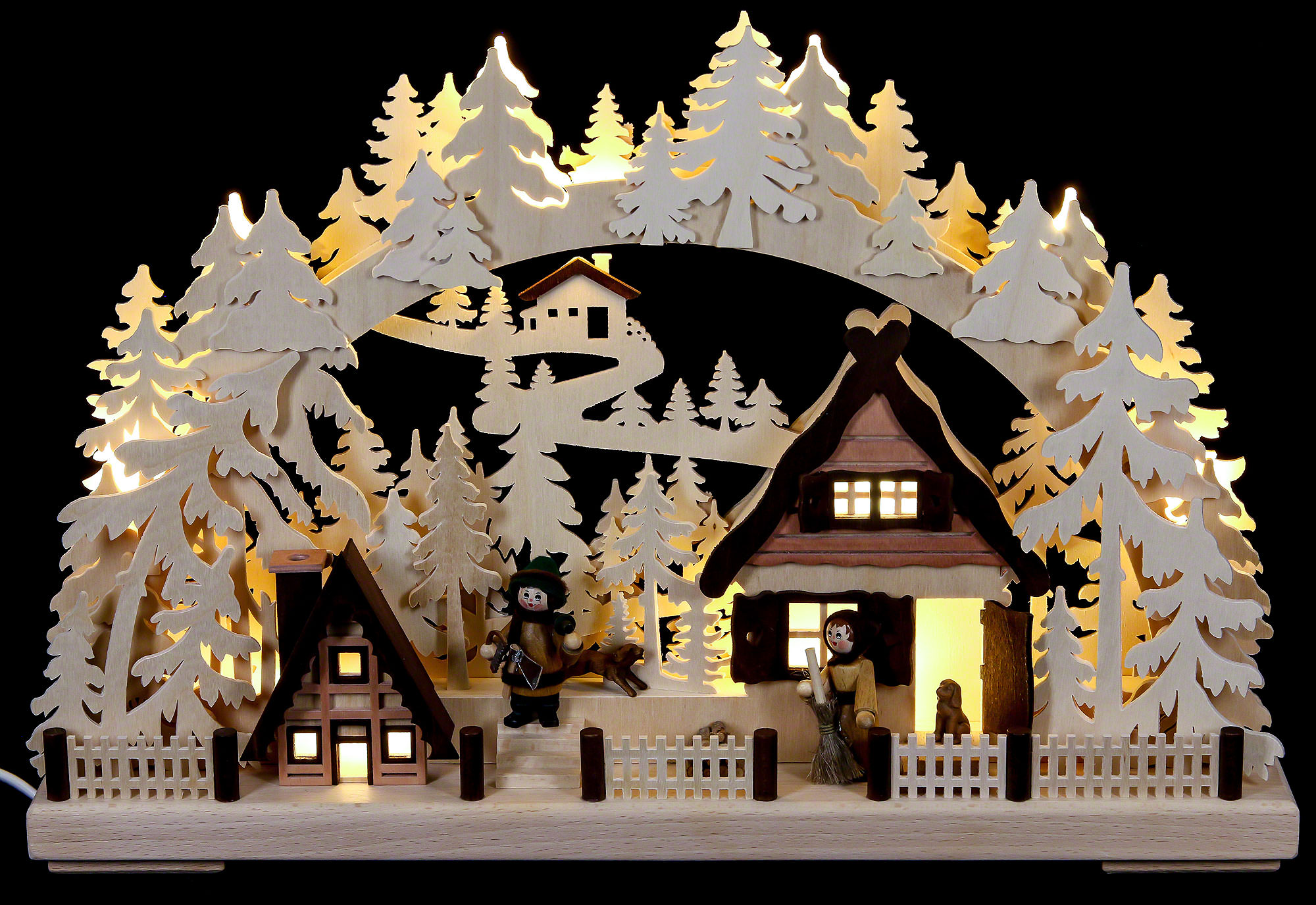 3d candle arch christmas preparations 43x30cm 17x12in ch for Arch candle christmas decoration