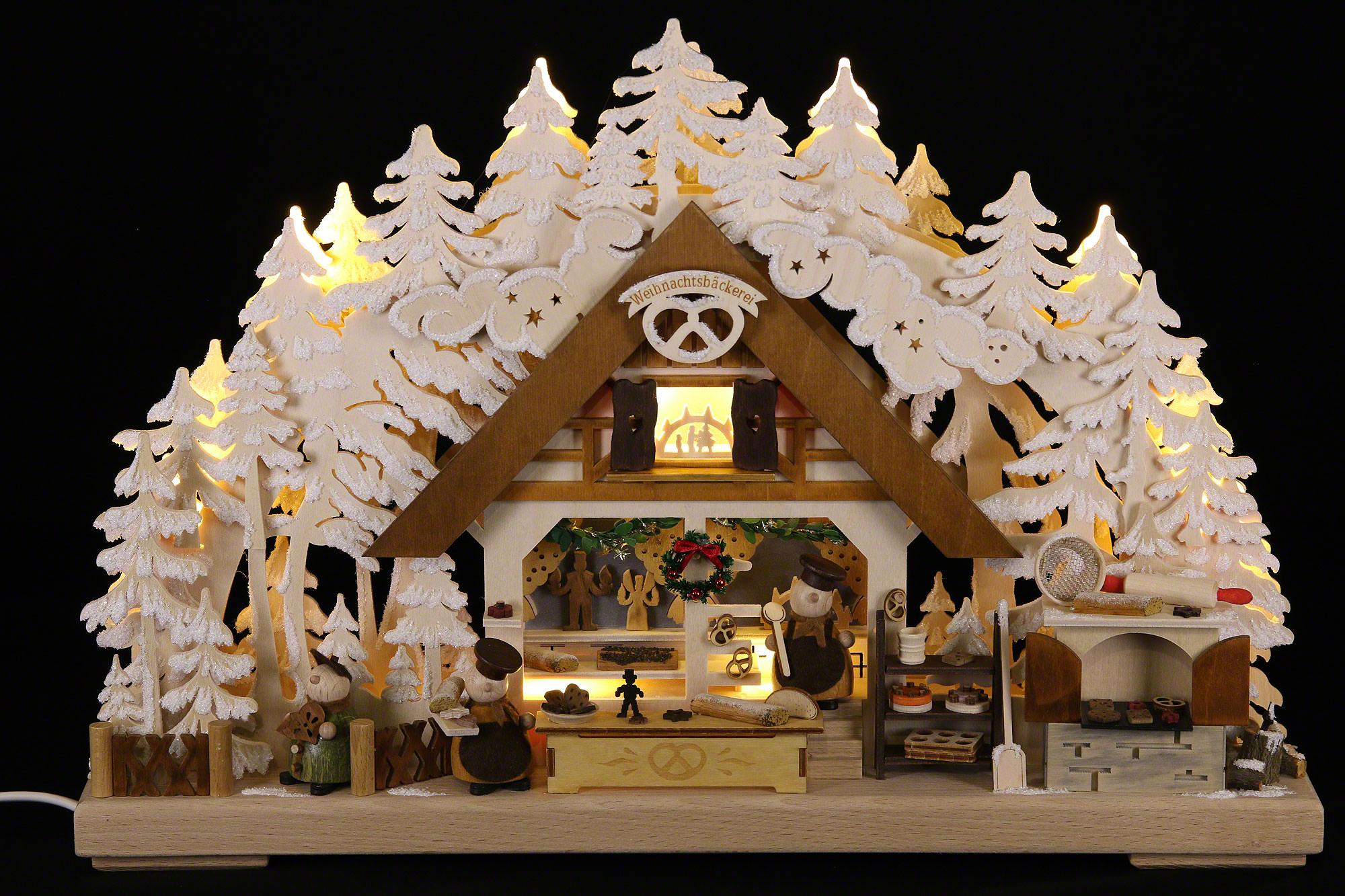 3d schwibbogen walki weihnachtsb ckerei mit raureif. Black Bedroom Furniture Sets. Home Design Ideas