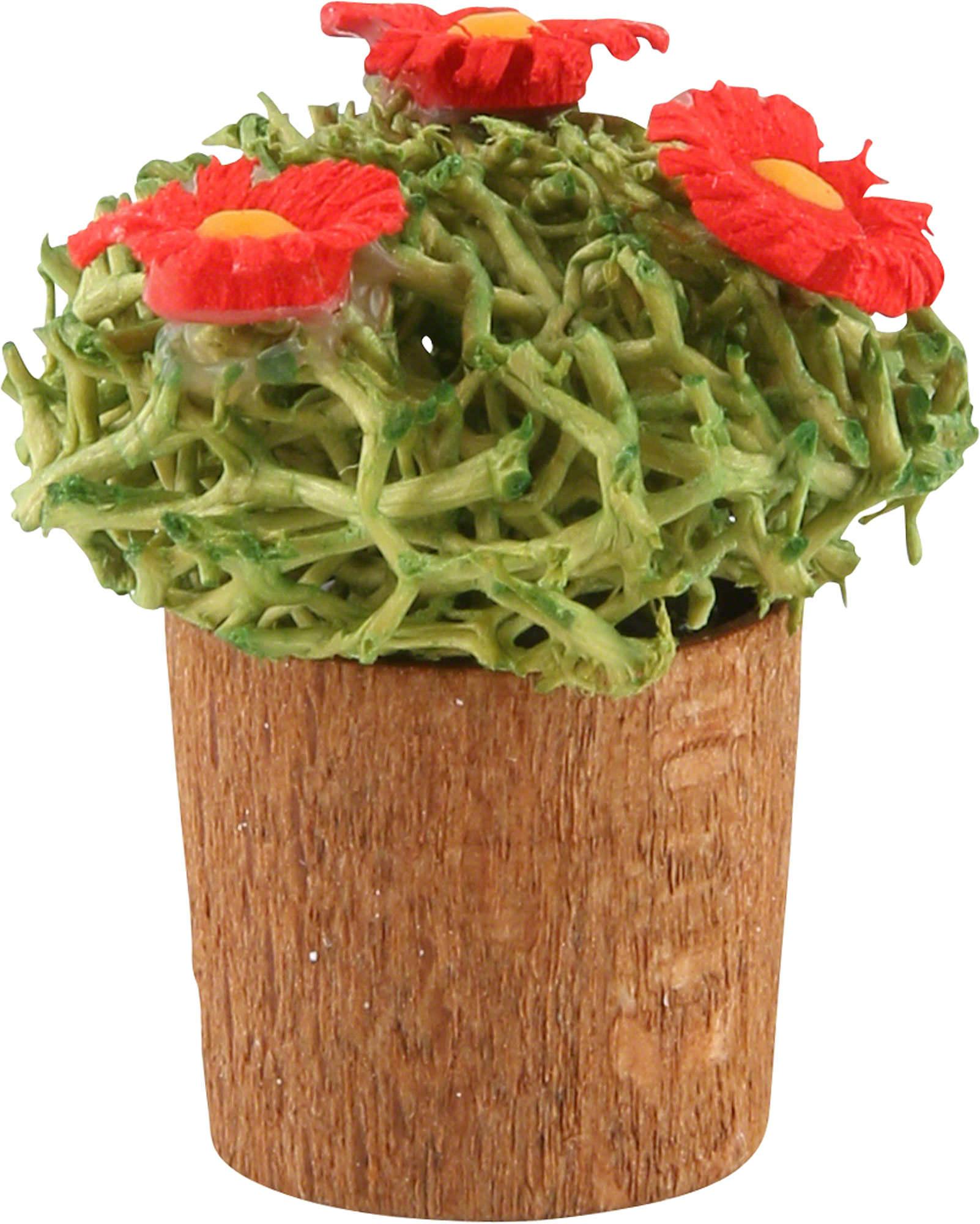 Blumentopf mit bl ten 3cm von g nter reichel for Blumentopf dekoration