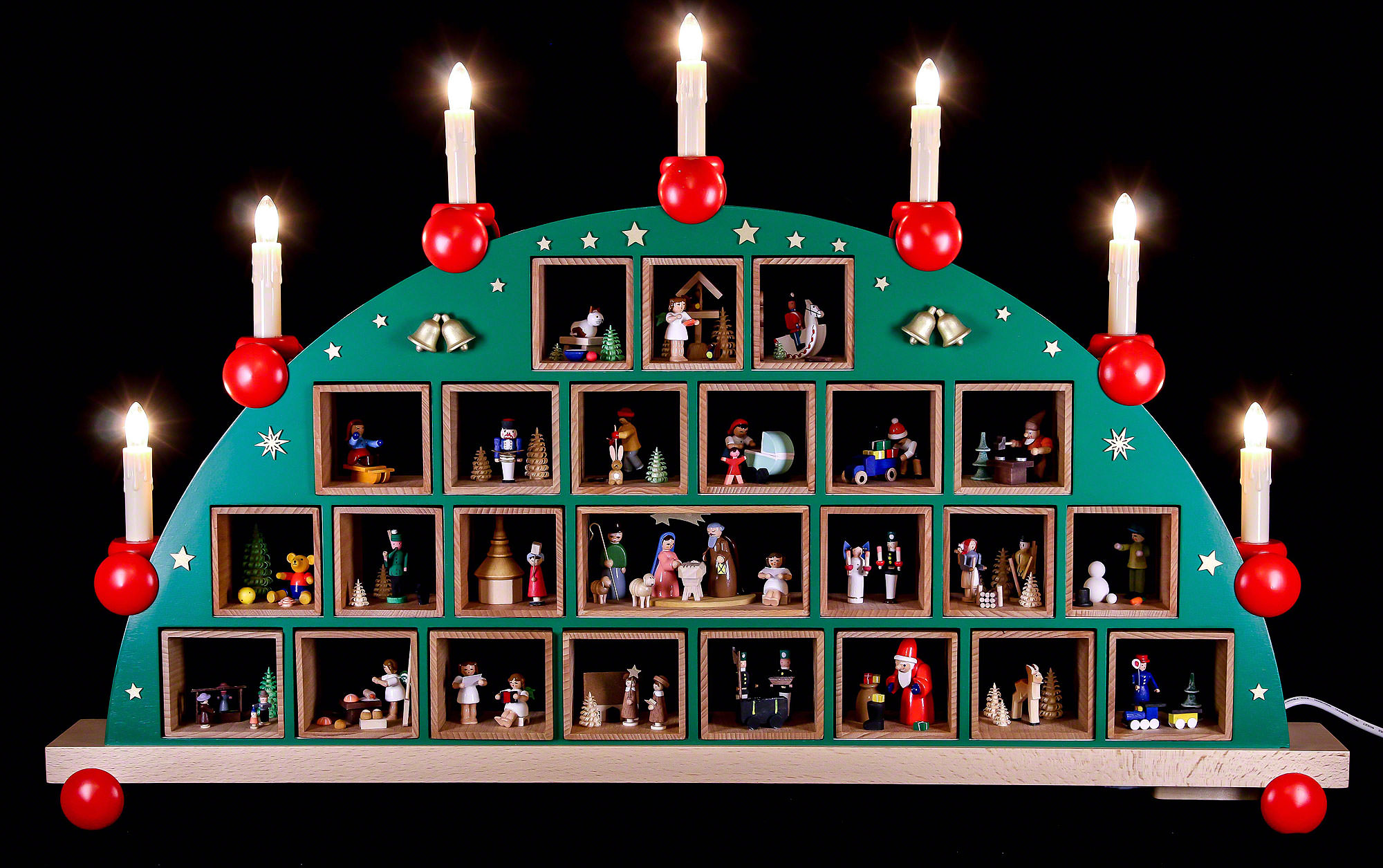 candle arch advent calendar 48x76cm 19x30in ch by richard gl sser. Black Bedroom Furniture Sets. Home Design Ideas