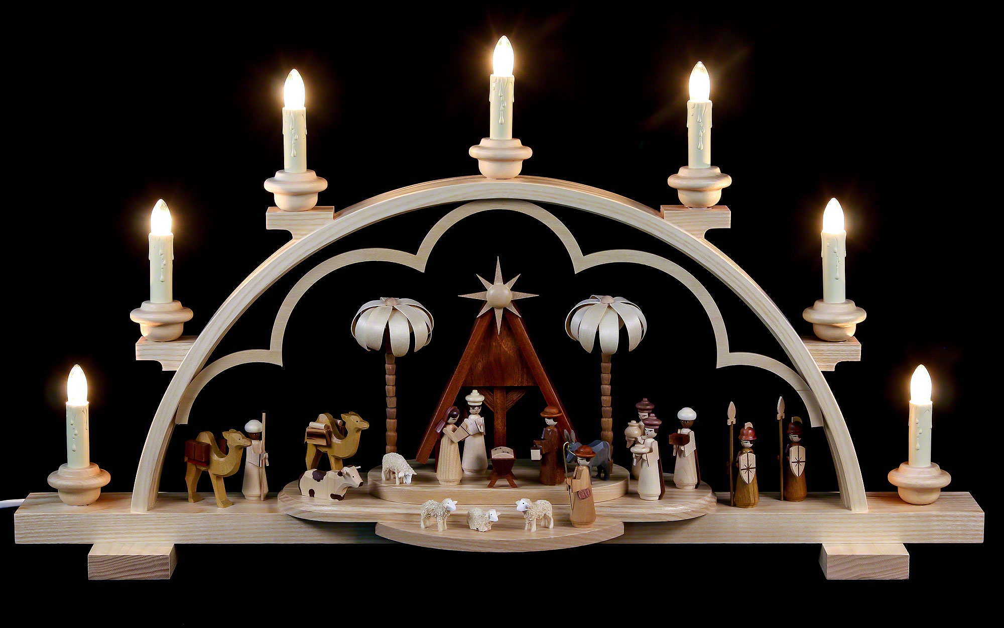 candle arch christmas story 64 cm 56in 120v electr. Black Bedroom Furniture Sets. Home Design Ideas