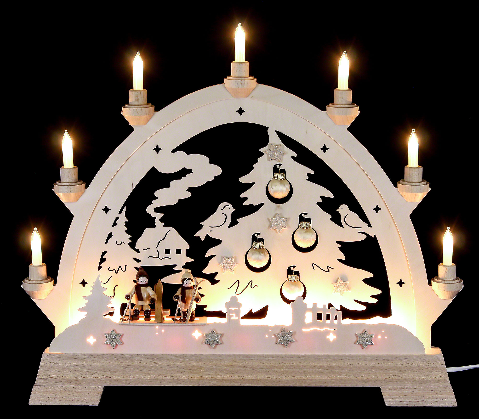 Candle arch christmas tree 40x43cm 16x16in by kwo for Arch candle christmas decoration