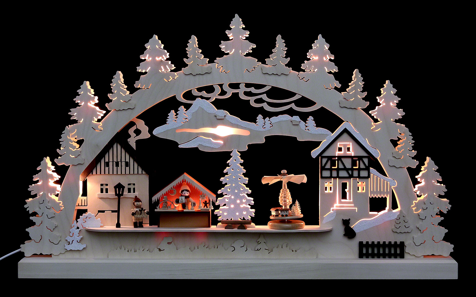 Candle arch christmas village 62x37x5 5cm 24x14x2in by for Arch candle christmas decoration