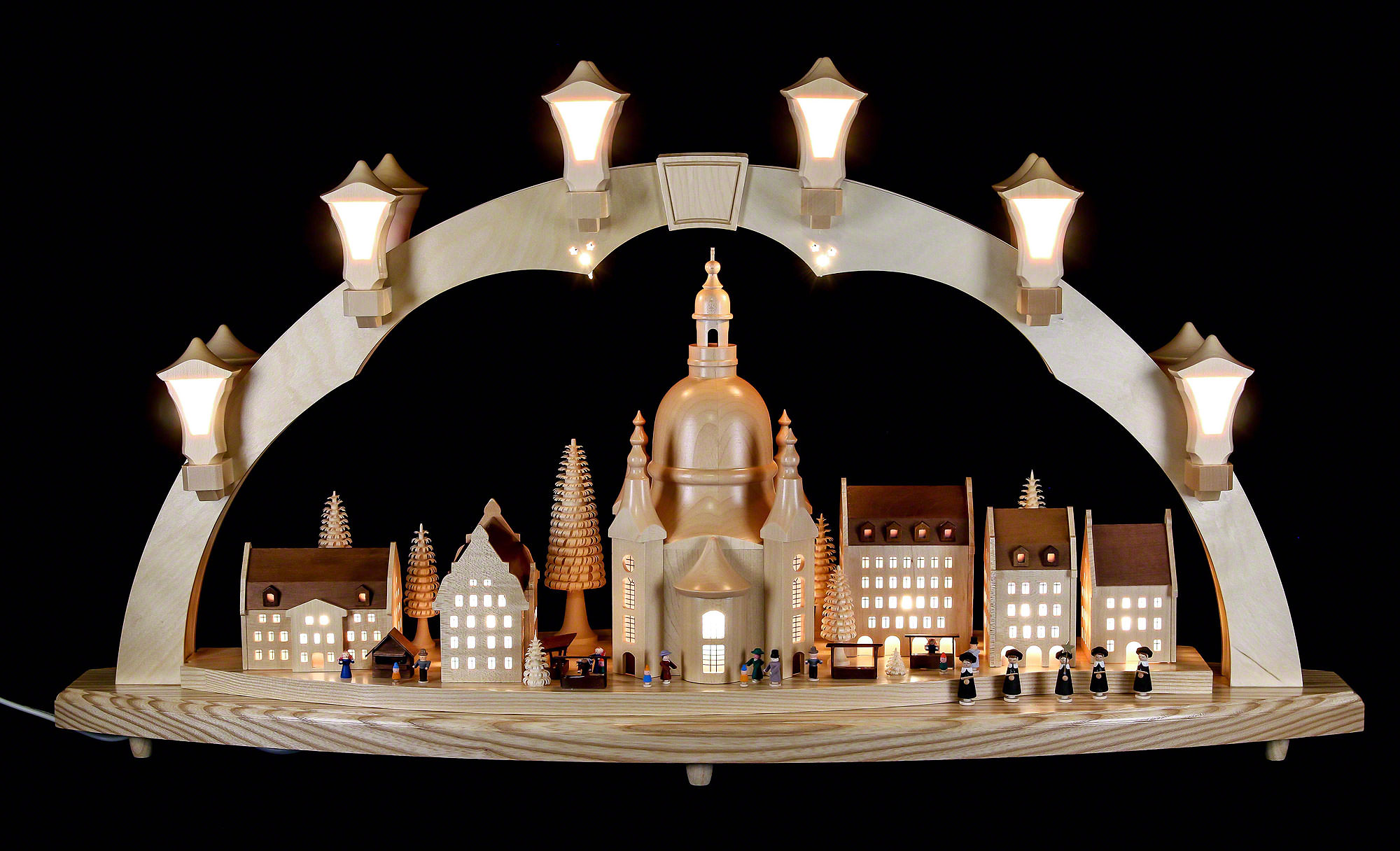 candle arch frauenkirche with christmas fair 41x17in. Black Bedroom Furniture Sets. Home Design Ideas
