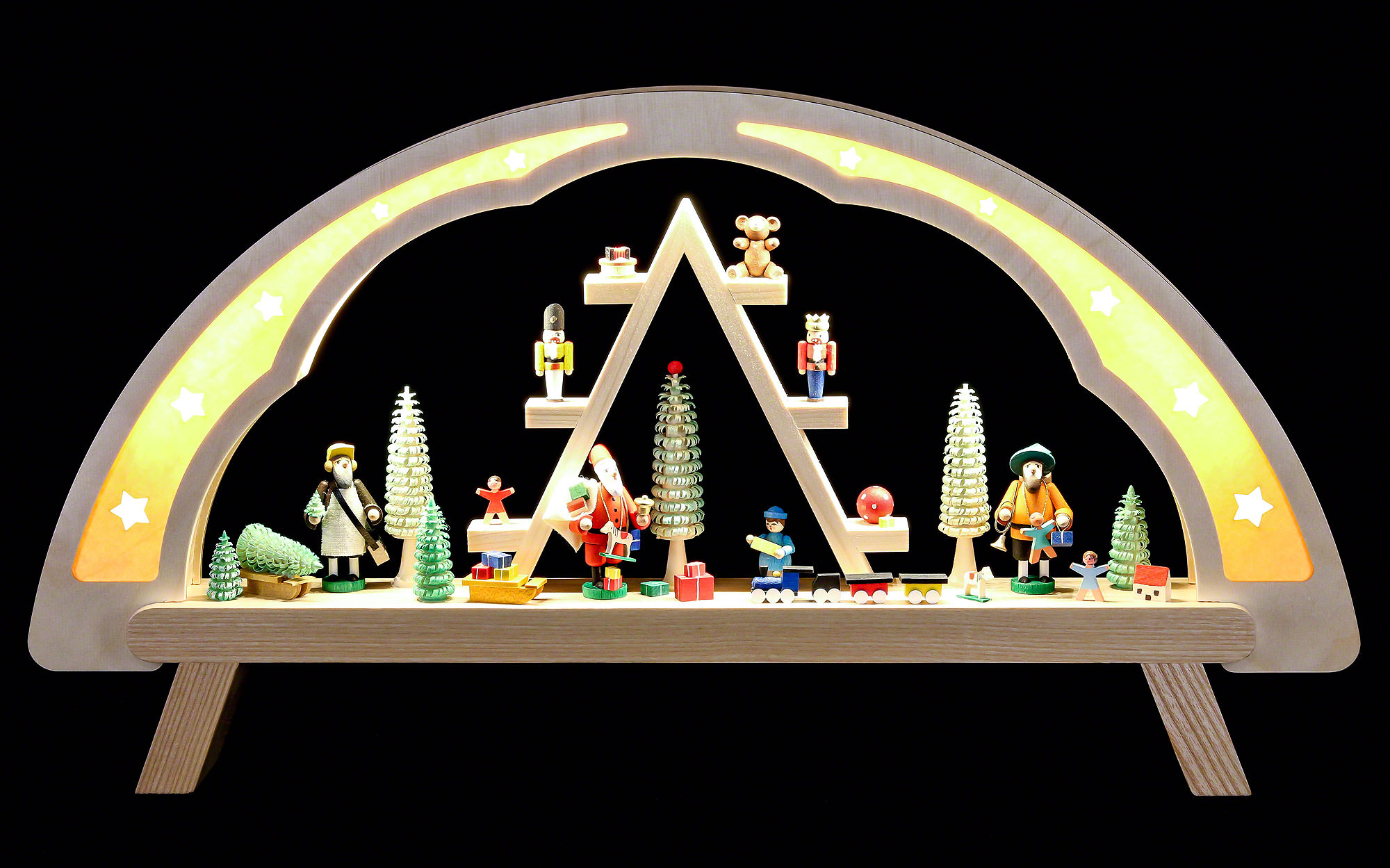 Candle arch christmas market 58x31cm 23x12in ch by for Arch candle christmas decoration