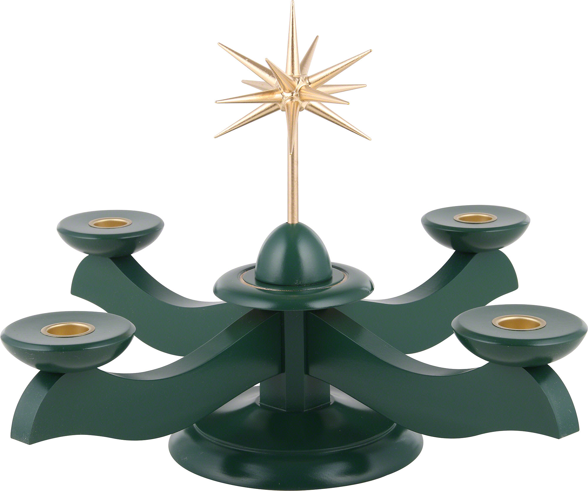 Candle holder width christmas star and advent green for Christmas candle displays