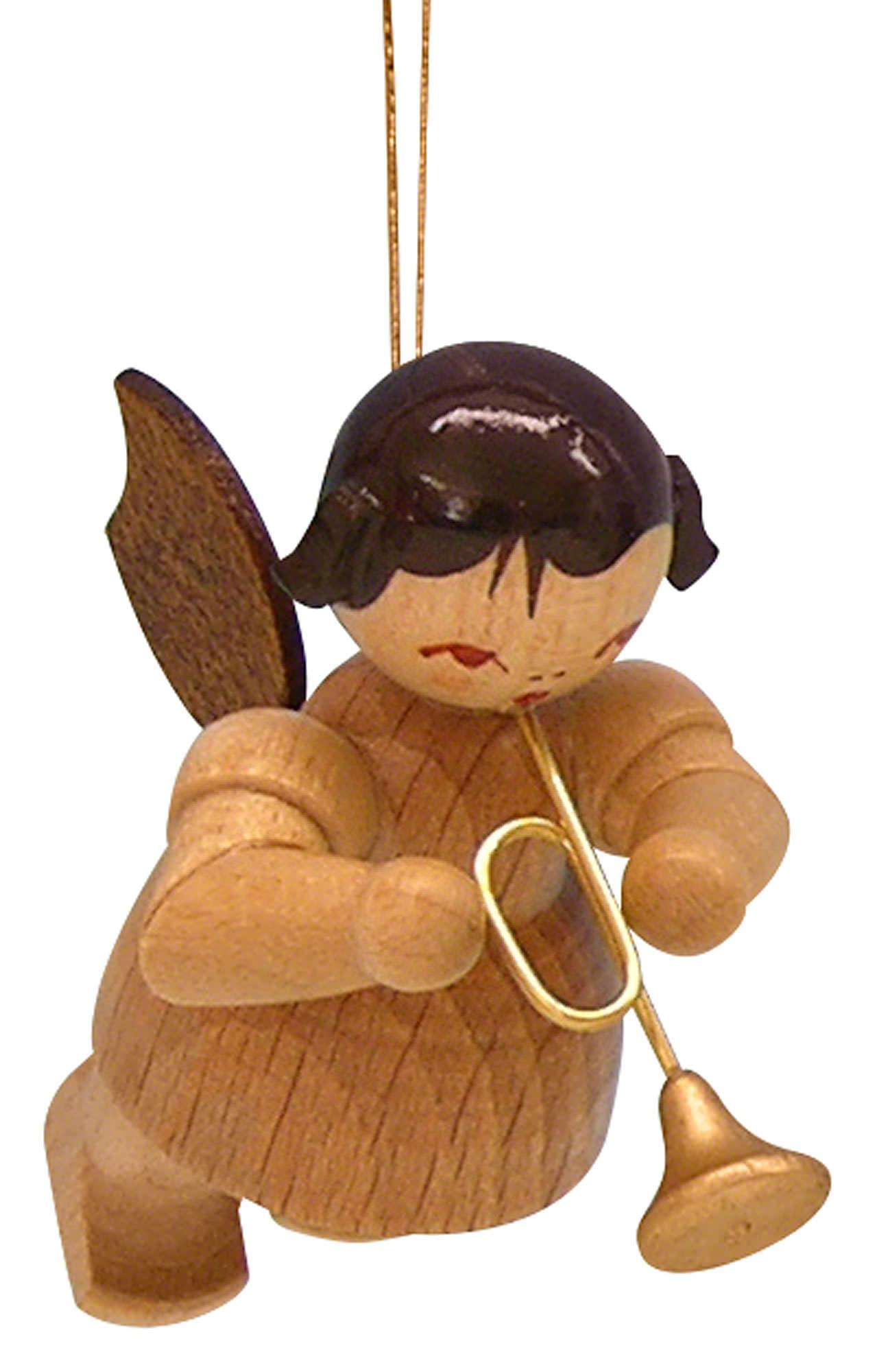 christbaumschmuck engel mit trompete natur schwebend. Black Bedroom Furniture Sets. Home Design Ideas
