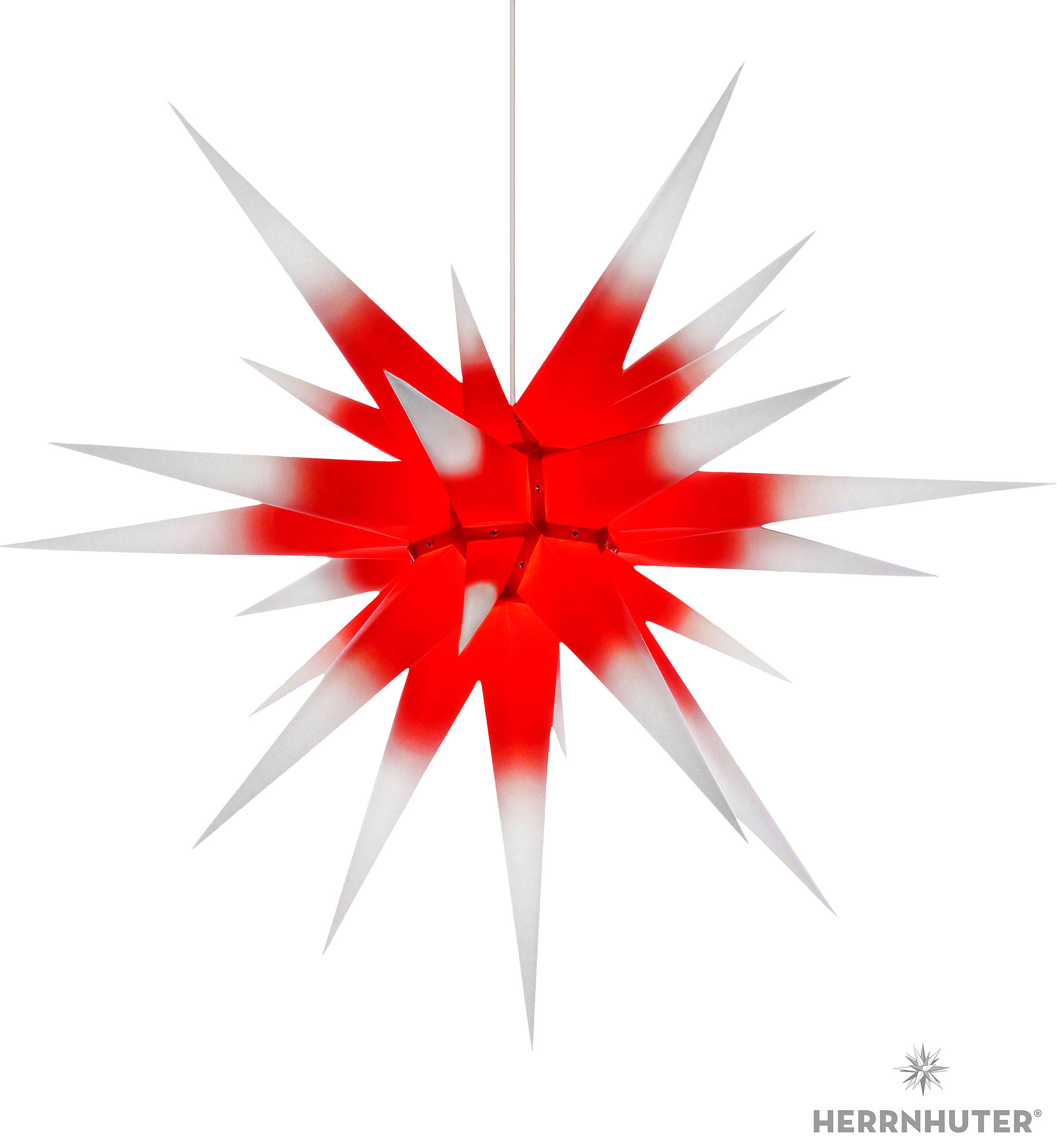 herrnhuter moravian star i8 white with red core paper 80cm 31in ch by herrnhuter sterne. Black Bedroom Furniture Sets. Home Design Ideas