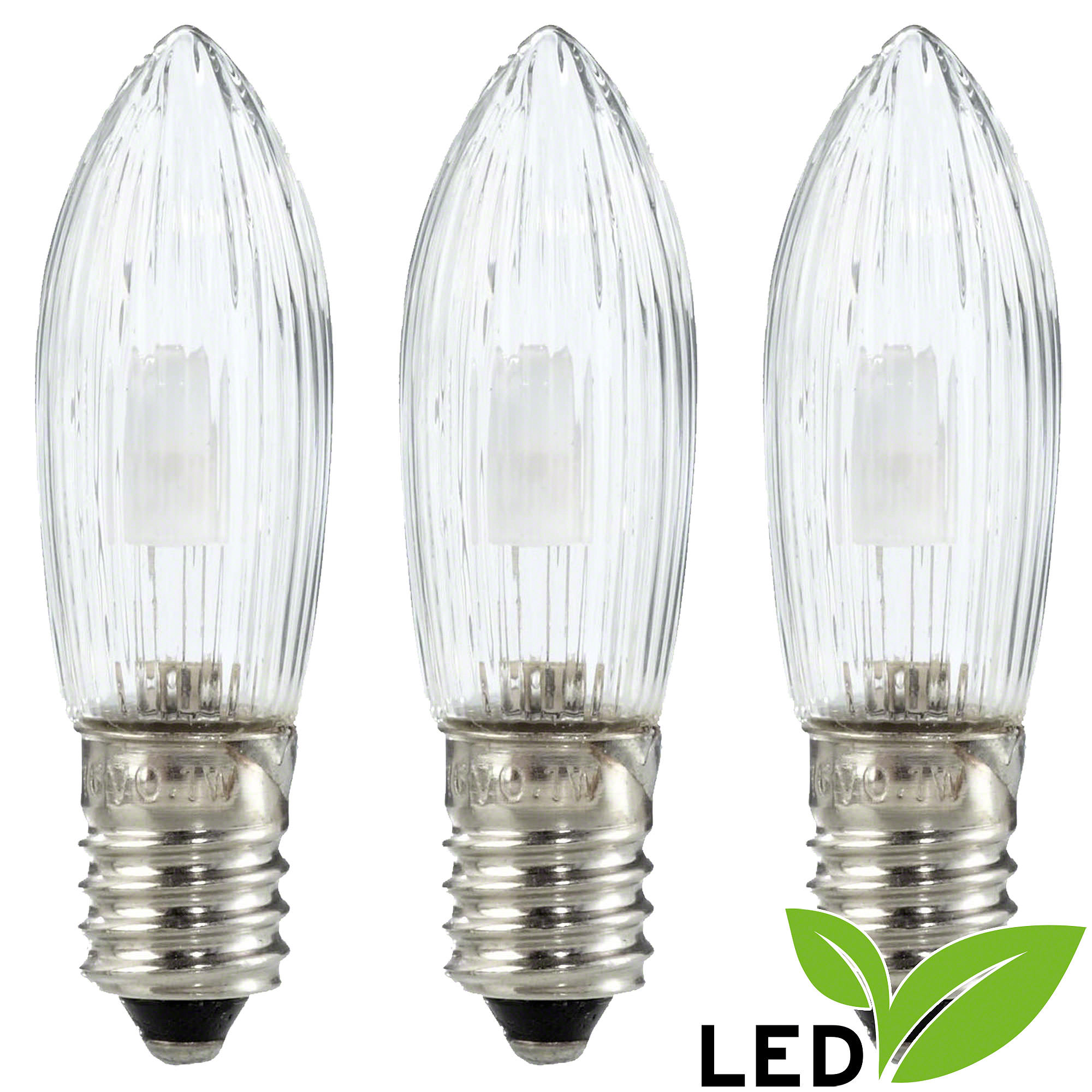 Led rippled bulb clear e socket warm white w by