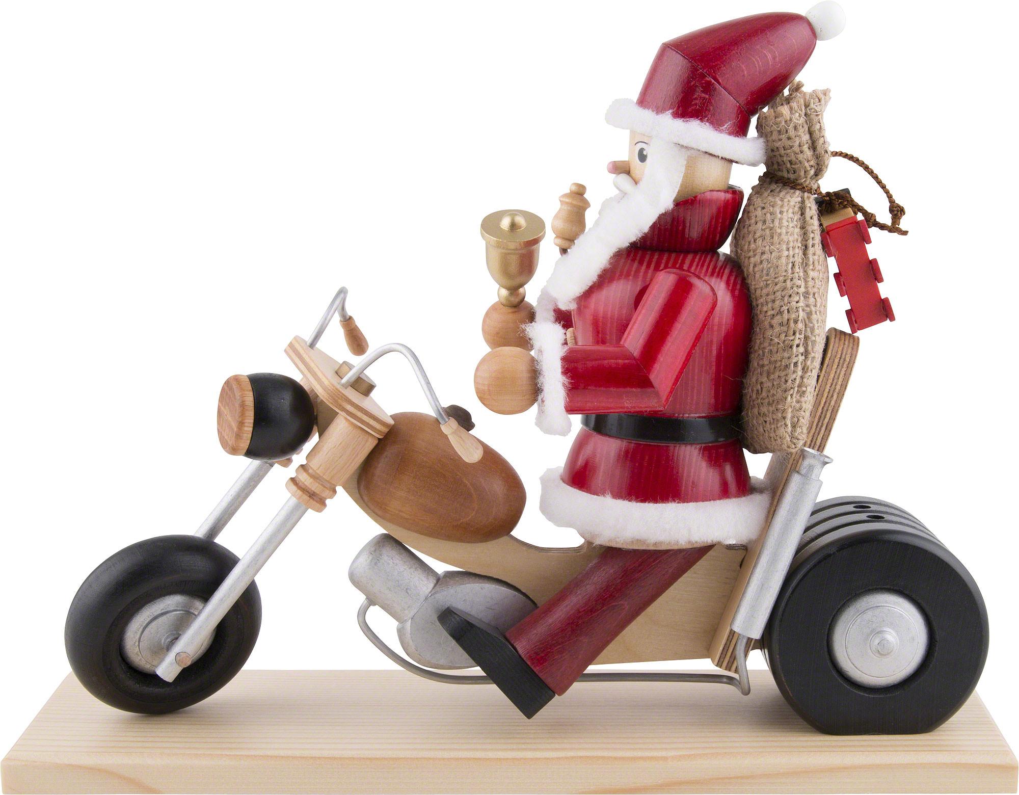 r ucherm nnchen weihnachtsmann auf motorrad 21cm von. Black Bedroom Furniture Sets. Home Design Ideas