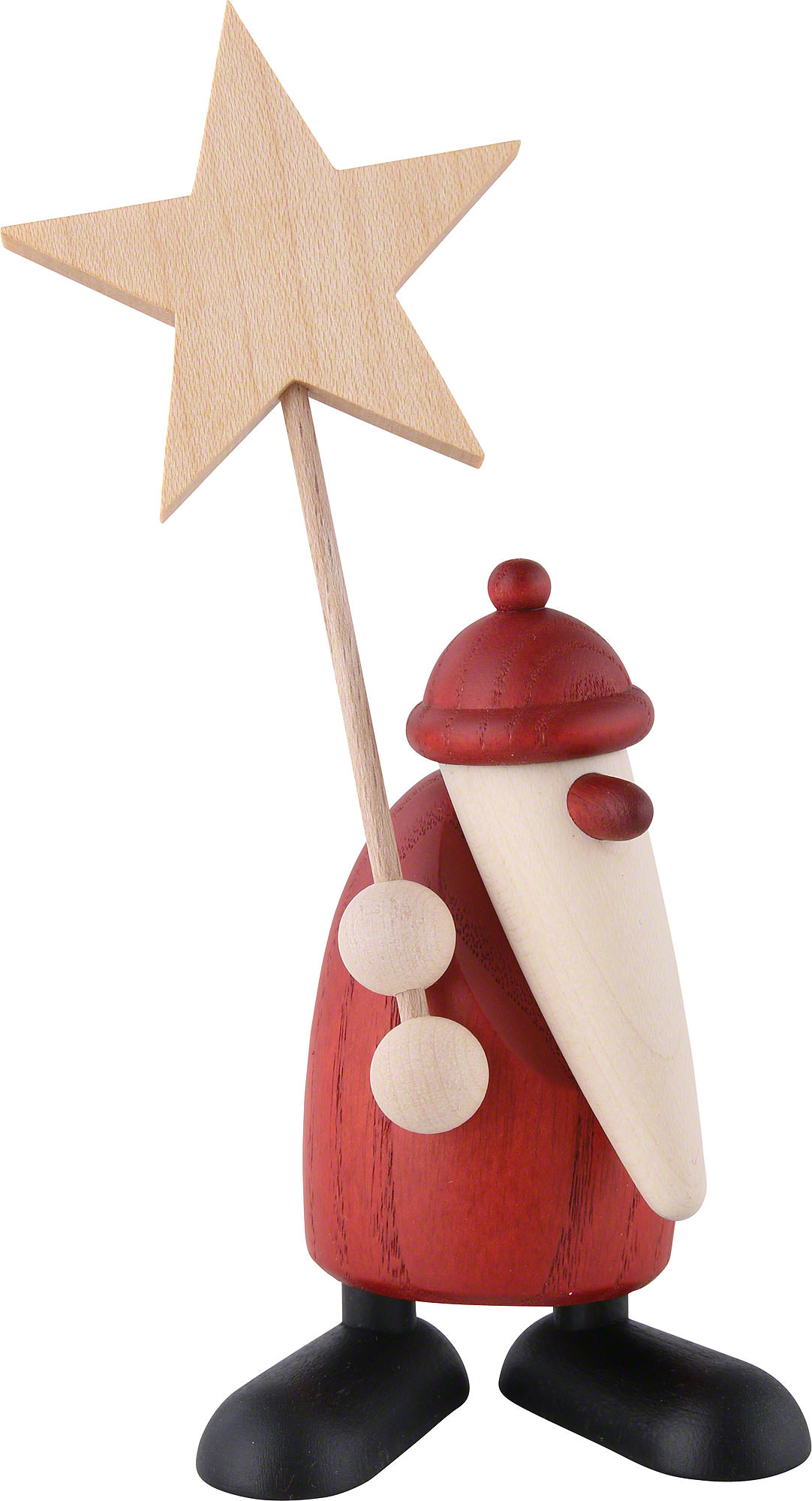 Santa claus with star cm in ch by björn köhler