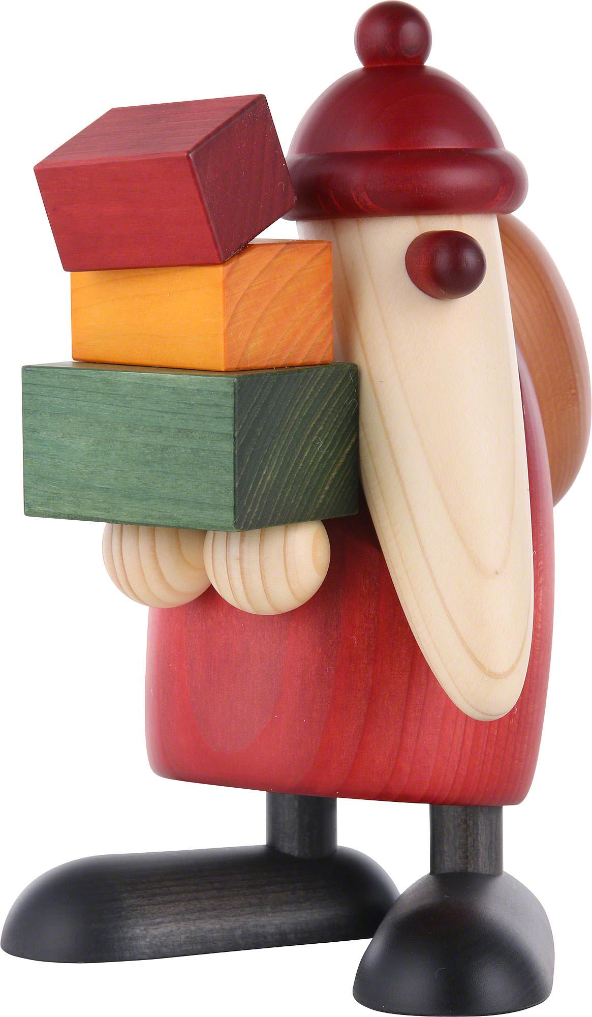weihnachtsmann geschenke tragend 19cm von bj rn k hler kunsthandwerk. Black Bedroom Furniture Sets. Home Design Ideas