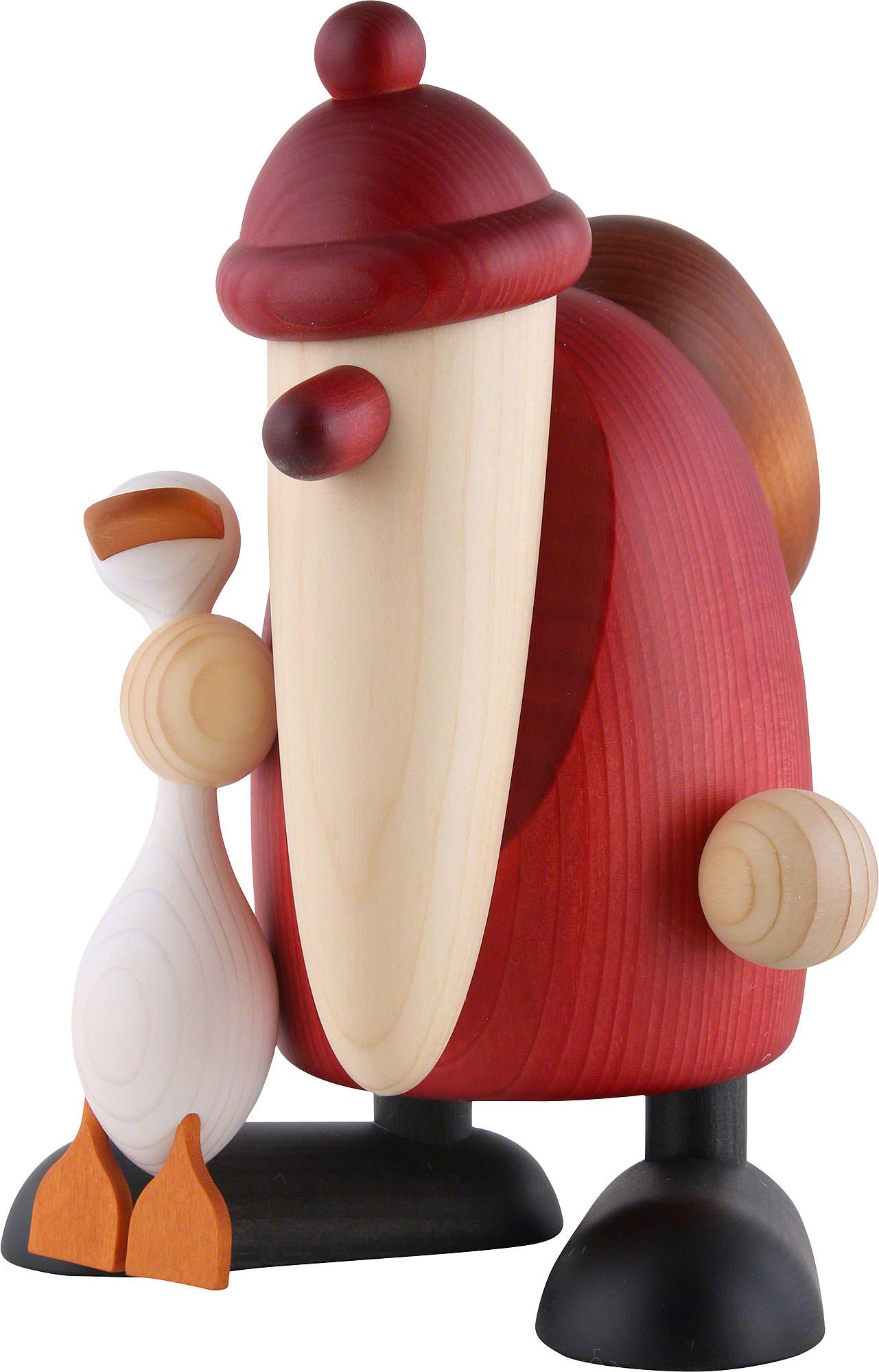 weihnachtsmann mit gans auguste 19cm von bj rn k hler kunsthandwerk. Black Bedroom Furniture Sets. Home Design Ideas